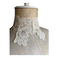 Bella Bordello Antique 19th Century Tape Lace Collar
