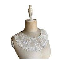 Bella Bordello Antique Lace Collar White Floral Mixed Lace