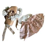 Bella Bordello Vintage Masquerade Mask Shabby Nordic Chic White Pink Silk