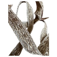 Bella Bordello Antique Flapper Trim Ribbon Silk Metallic Silver Braid