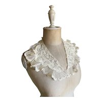 Bella Bordello Antique Ruffled Tambour Lace Ruffled Collar