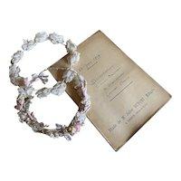 Antique French Transcript Handwritten Dated June 25 1909 Pink Binding Paris Cursive