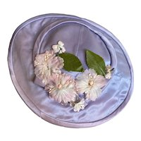 Bella Bordello Vintage Childs Costume Dance Ballet Hat Lavender Satin Pink Millinery Flowers