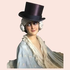 Bella Bordello Vintage Plum Purple Top Hat