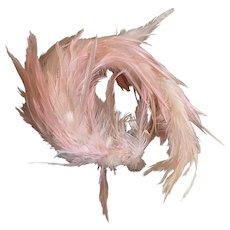Vintage Headdress Headband Pink Feathers