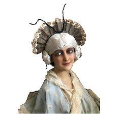 Bella Bordello Vintage Ballet Dance Costume Headdress Hold Lamé