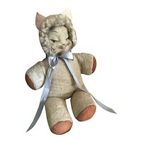 Bella Bordello Sugar Sweet Vintage Plush Kitty Cat Painted Face Loved