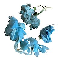 Bella Bordello Vintage Millinery Collection Shabby Chic Flowers Bright Blue