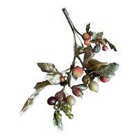 Bella Bordello Vintage Millinery Fruit Branch Berries Tiny Pear