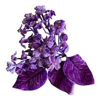 Bella Bordello Vintage Millinery Flowers Magenta Velvet Petite Blooms