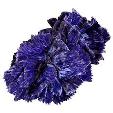 Bella Bordello XL Vintage 1920's Flapper Era Millinery Flowers Purple Velvet