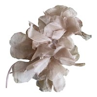 Bella Bordello Vintage Millinery Flowers Tan Organdy Spray