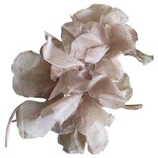 Bella Bordello Vintage Millinery Flowers Tan Organdy Spray
