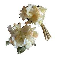 Bella Bordello Vintage Millinery Collection Shabby Chic Flowers Yellow Hydrangea