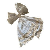 Bella Bordello Antique Silk Lace Ribbon Bow Shabby chic