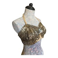 Bella Bordello Vintage Sequin Showgirl Burlesque Costume Bra