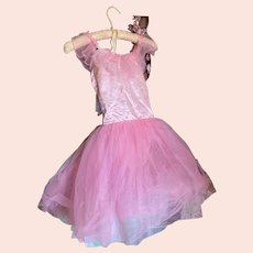 Bella Bordello Vintage Ballet Dress Tutu Costume Pink Shabby Nordic Chic
