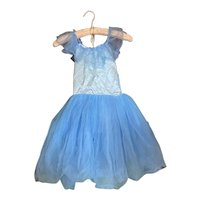 Bella Bordello Vintage Ballet Dance Dress Tutu Costume Powder Blue