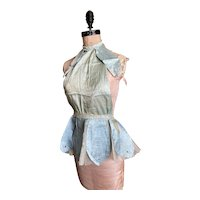 Bella Bordello OMG Cutest Vintage Ballet Theater Costume Blue Fairy Gauze Lace Skirt Petals Nordic Chic