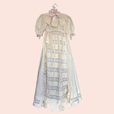 Bella Bordello Antique Gorgeous Childs Young Girls Silk Lace Christening Dress