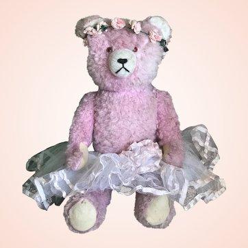 Bella Bordello Sugar Sweet Large Vintage Pink Teddy Bear Shabby Chic