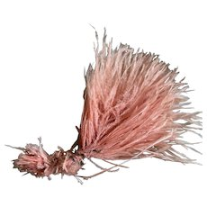 Vintage 1920's Flapper Era Pale Pink Ostrich Feather Millinery Spray
