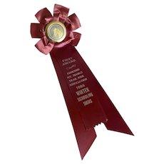 Vintage Rosette Ribbon Award Horse Show Ribbon 1966