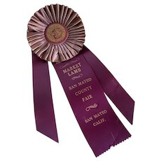 Vintage Award Rosette Ribbon Market Lamb Champion