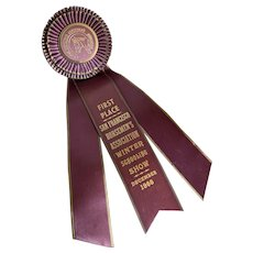 Vintage Rosette Ribbon Award Horse Show Ribbon 1966 December San Francisco