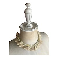 Bella Bordello Antique Lace Collar Silk Ribbonwork Rosettes