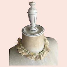 Bella Bordello Antique Lace Collar Silk Ribbonwork Rosettes