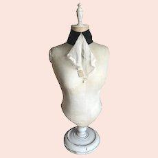 Bella Bordello Antique Black Collar With Flounce Lace Ruffle Original Tag