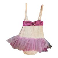 Bella bordello Vintage Ballet Costume Tutu Pink Tulle Lace Sequins Shabby Nordic Chic