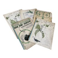 Bella Bordello Antique Vintage 1920s Sheet Music Collection Green White Halloween Pumpkin