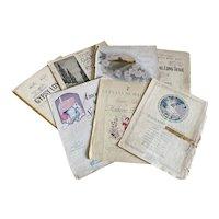 Bella Bordello Antique Vintage 1920s Sheet Music Collection Pink White Romantic