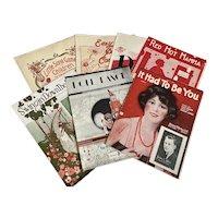 Bella Bordello Antique Vintage 1920s Sheet Music Collection Red Black