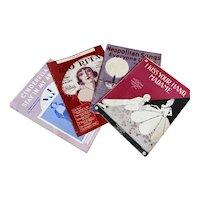 Bella Bordello Antique Vintage 1920s Sheet Music Collection Red Purple