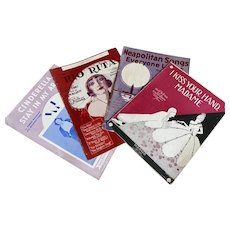 Bella Bordello Antique Vintage 1920s Sheet Music Collection Red Purple