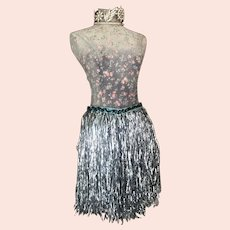 Bella Bordello Vintage Costume Skirt Tinsel Showgirl Burlesque
