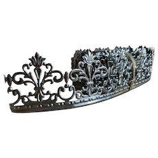 Bella Bordello 4 Continuous Yards Antique Victorian German Silver Metal Fleur De Lis Filigree Trim Edging Shelves Frames