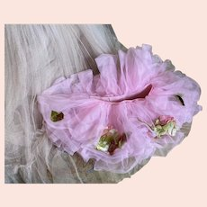 Bella Bordello Pink Young Girls Shabby Chic Tutu Ballet Costume Vintage Millinery