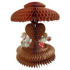 Bella Bordello Vintage 1920's Valentine Honeycomb 3D Valentines Day Heart Cherub