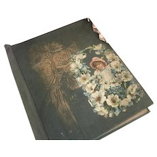 Bella Bordello Antique Victorian Folder Scrapbook Embossed Die Cut Scrap Ephemera