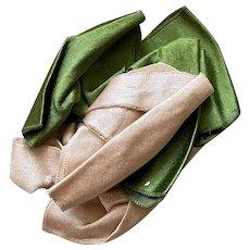 Bella Bordello Antique Slavaged Trim Silk Ribbon Bow Pink Green