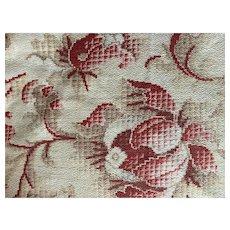 Antique 19th Century French Fabric Art Nouveau Earth Tone Digital Floral