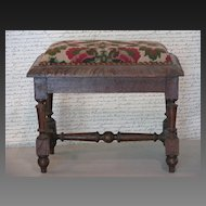 French Louis XIV Style Needlepoint Tabouret (Footstool)