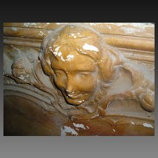 18th Century French Baroque Cartouche in Plaster