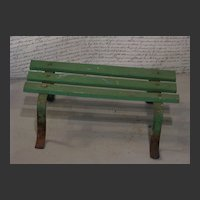 Vintage Country French Wooden Slat Footstool