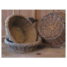 Vintage French Boulangerie Bread Basket