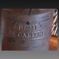 Vintage Country French Demi Litre Wine Measure